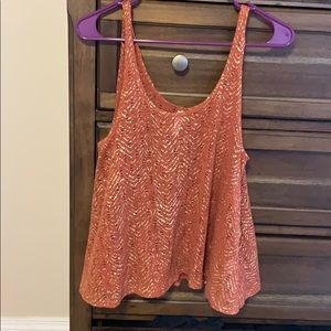 Copper and gold tank top.